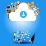 Concetto di calcolo della nube Fotografie Stock Libere da Diritti