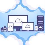 Concetto di calcolo della nube Immagine Stock