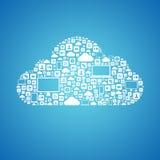 Concetto di calcolo della nuvola Immagini Stock Libere da Diritti