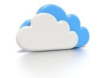 Concetto di calcolo della nuvola. Fotografia Stock Libera da Diritti