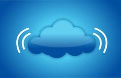 Concetto di calcolo della nuvola con il segnale di dati Fotografia Stock Libera da Diritti