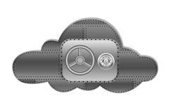 Computazione della nuvola di sicurezza Illustrazione Vettoriale