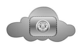 Computazione della nuvola di sicurezza Royalty Illustrazione gratis