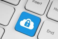 Concetto di calcolo di sicurezza della nuvola Fotografie Stock Libere da Diritti