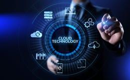 Concetto di calcolo di Internet di archiviazione di dati della rete di tecnologia della nuvola illustrazione vettoriale