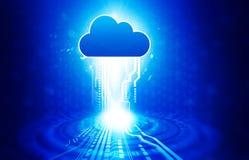 Concetto di calcolo di obbligazione della nube Immagini Stock
