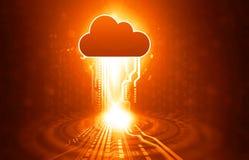 Concetto di calcolo di obbligazione della nube Immagini Stock Libere da Diritti
