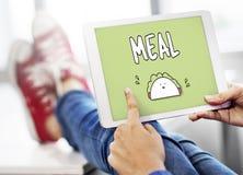Concetto di calorie di cibo del panino di nutrizione dell'alimento del pasto Fotografia Stock