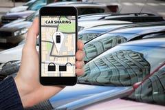 Concetto di car sharing immagini stock