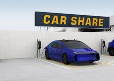 Concetto di car sharing Immagine Stock