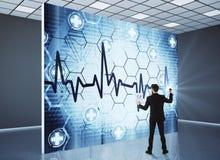 Concetto di cardiologia e dell'innovazione Immagini Stock