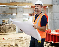 Concetto di Career Structure Construction dell'architetto del modello Immagine Stock