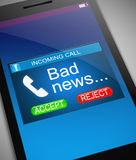 Concetto di cattive notizie Immagine Stock Libera da Diritti