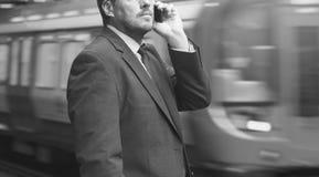 Concetto di Caucasian Male Professional dell'uomo d'affari fotografia stock libera da diritti