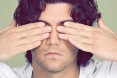 Concetto di cecità fotografie stock libere da diritti