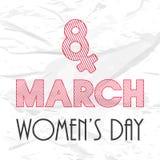 Concetto di celebrazione del giorno delle donne felici Immagini Stock