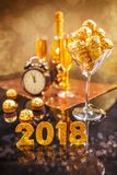 Concetto di celebrazione del ` s da 2018 nuovi anni Fotografie Stock