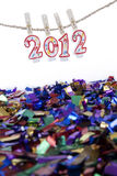 Concetto di celebrazione di nuovo anno 2012 Fotografia Stock Libera da Diritti