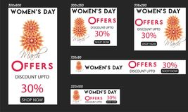 Concetto di celebrazione di giorno del ` s delle donne Fotografia Stock Libera da Diritti