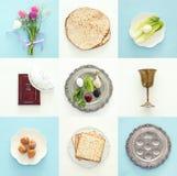 Concetto di celebrazione di Pesah & x28; holiday& ebreo x29 di pesach; fotografia stock