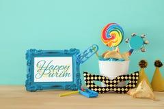 Concetto di celebrazione di Purim & x28; holiday& ebreo x29 di carnevale; Fotografie Stock