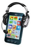 Concetto di chiacchierata del telefono mobile Fotografie Stock Libere da Diritti