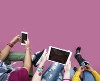 Concetto di chiacchierata di tecnologia della rete sociale di comunicazione Fotografie Stock Libere da Diritti