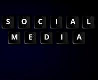 Concetto di chiavi sociale di media Fotografia Stock Libera da Diritti