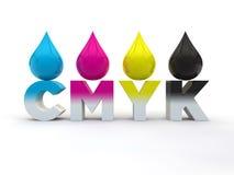 Concetto di CMYK Fotografia Stock Libera da Diritti