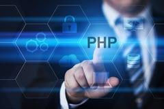 Concetto di codifica di sviluppo Web di linguaggio di programmazione del PHP fotografia stock libera da diritti