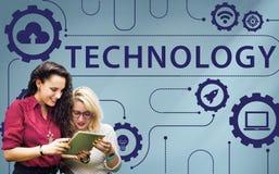 Concetto di collegamento della rete della nuvola di tecnologia Immagini Stock