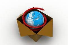 concetto di commercio di affari globali 3d Royalty Illustrazione gratis