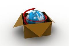 concetto di commercio di affari globali 3d Illustrazione Vettoriale