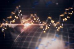 Concetto di commercio e di affari globali Fotografia Stock