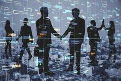 Concetto di commercio e di lavoro di squadra immagine stock libera da diritti