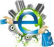 Concetto di commercio elettronico Fotografie Stock Libere da Diritti