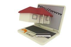 Concetto di commercio elettronico del Internet Fotografie Stock
