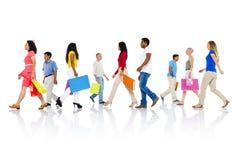 Concetto di compera di vendita del consumatore del cliente al minuto dell'acquisto fotografie stock
