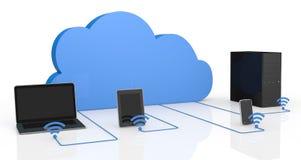 Concetto di computazione della nube Immagine Stock