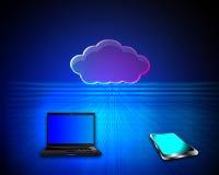 Concetto di computazione della nube Fotografia Stock