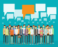 Concetto di comunicazione commerciale della gente del gruppo Immagine Stock