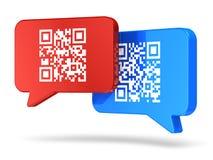 Concetto di comunicazione di codice di QR Fotografie Stock Libere da Diritti