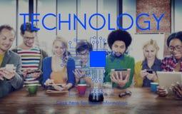 Concetto di comunicazione di Internet del collegamento dell'innovazione di tecnologia Immagini Stock Libere da Diritti