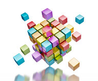 Concetto di comunicazione di Internet di lavoro di squadra di affari Immagini Stock
