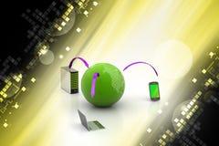 Concetto di comunicazione di Internet e della rete globale Immagine Stock