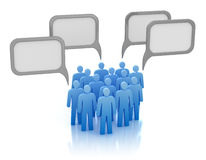 Concetto di comunicazione - folla della gente Immagine Stock