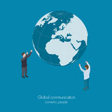 Concetto di comunicazione globale Fotografie Stock