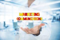 Concetto di comunicazioni di vendita Fotografia Stock