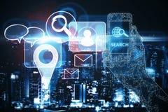 Concetto di connettività immagini stock libere da diritti