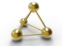 Concetto di connettività dell'oro illustrazione di stock